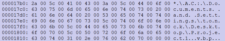 Del kode, ki razkriva uporabniško ime