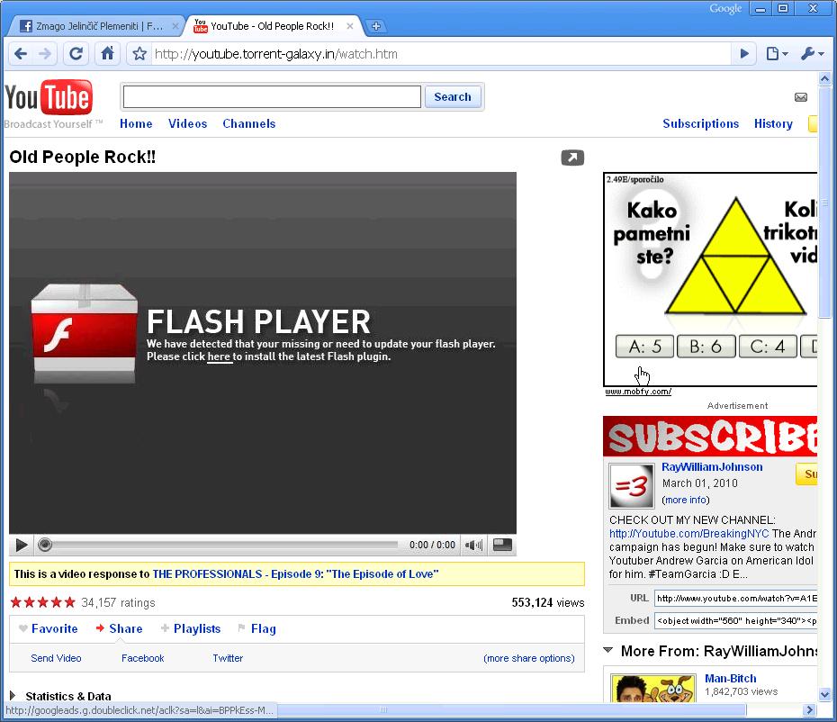 Škodljiva spletna stran