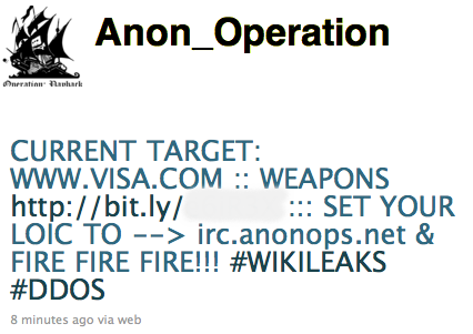 Objava skupine Anonymous