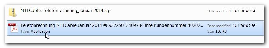 Posnetek ikone pdf, v kateri naj bi se nahajal račun