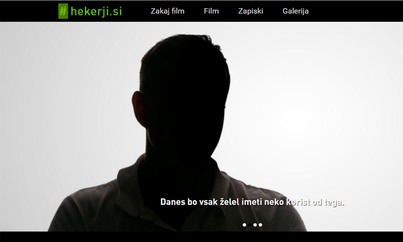 Zaslon iz filma #hekerji.si