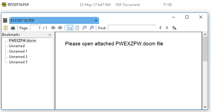 Odprta .pdf priponka