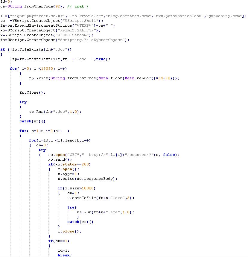 Odmaskirana prenesena koda