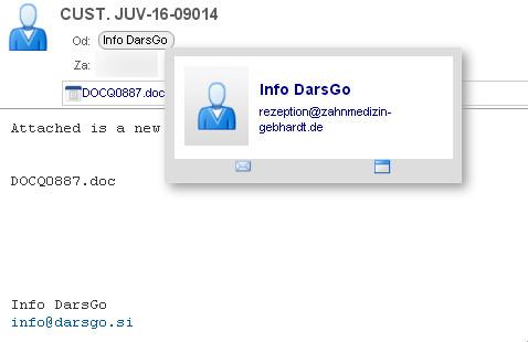 Primer elektronskega sporočila