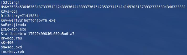 Konfiguracijski parametri v rok.docx datoteki