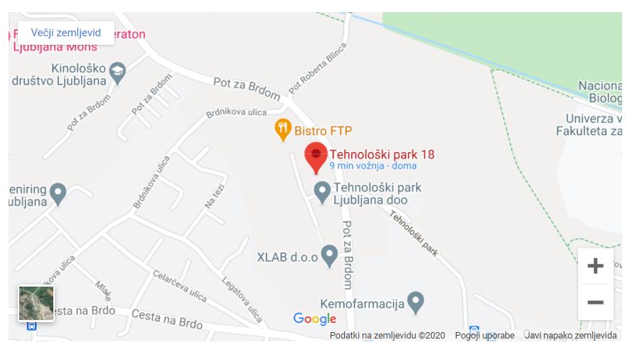 Prikaz lokacije na zemljevidu Google  Maps