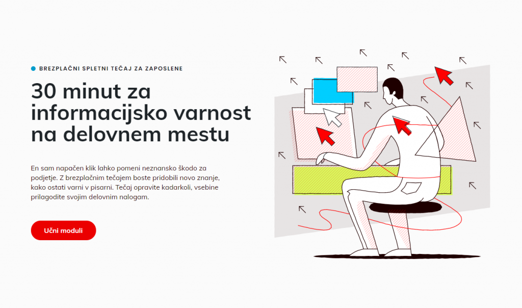 Naslovna stran portala Varni v pisarni